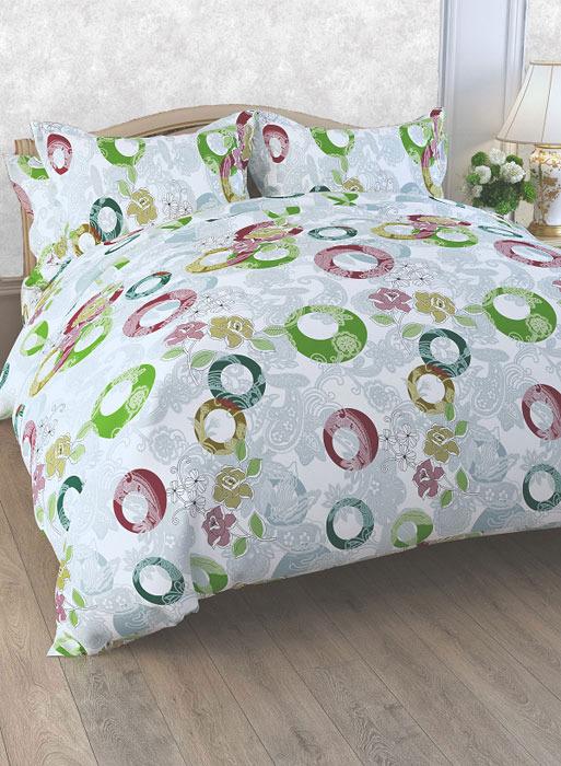 """Комплект белья ЭГО """"Сюита"""", 1,5-спальный, наволочки 70x70, цвет: серый"""
