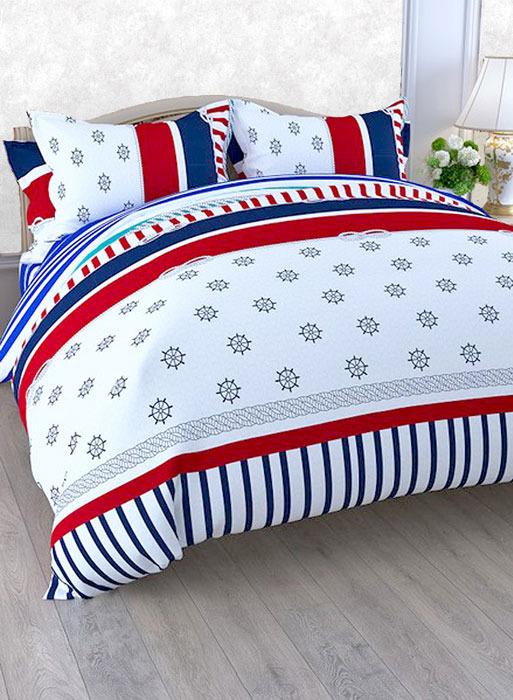 """Комплект белья ЭГО """"Скерцо"""", 1,5-спальный, наволочки 70x70, цвет: белый"""