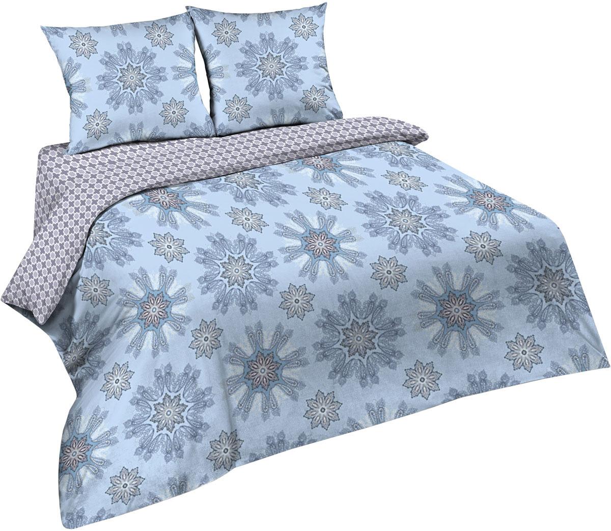 Комплект постельного белья Павлина Простые вещи, евро, наволочки 70x70, цвет: голубой александр вин простые очень простые вещи