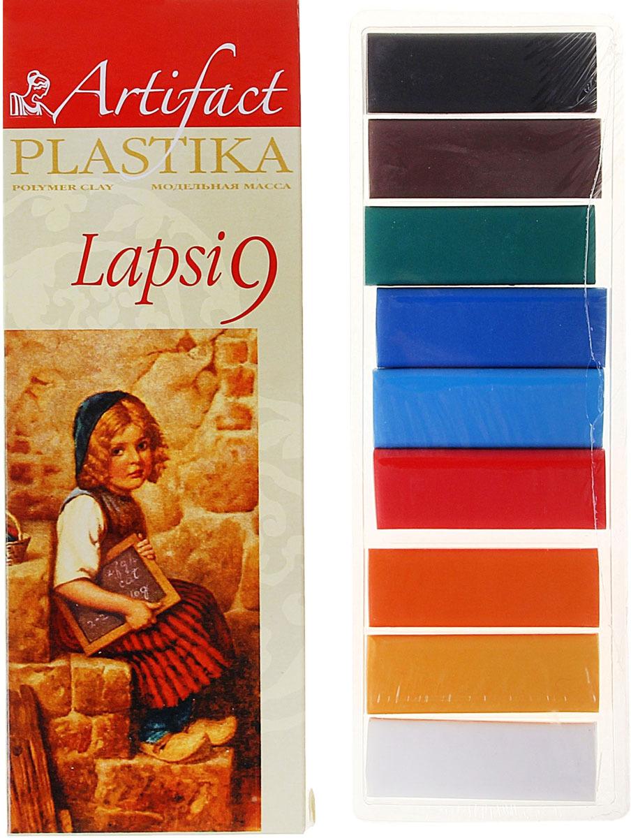 Глина полимерная Артефакт Lapsi, запекаемая, 9 цветов полимерная глина artifact 7109 78 9 цветов
