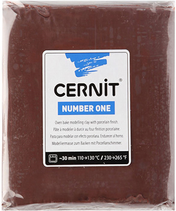 Глина полимерная Cernit №1, запекаемая, цвет: коричневый, 250 г