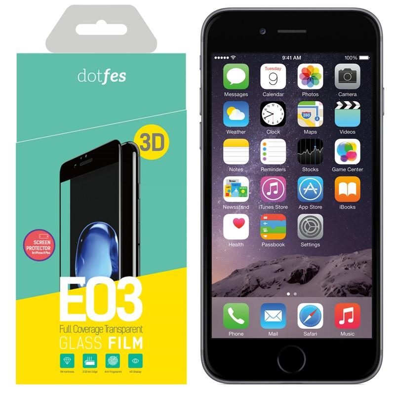 Фото - Стекло защитное Dotfes E03 3D для iPhone 6 Plus/6S Plus, Black стикеры для стен zooyoo1208 zypa 1208 nn