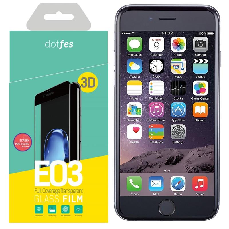 Фото - Стекло защитное 3D Dotfes E03 для iPhone 6/6S, black стикеры для стен zooyoo1208 zypa 1208 nn