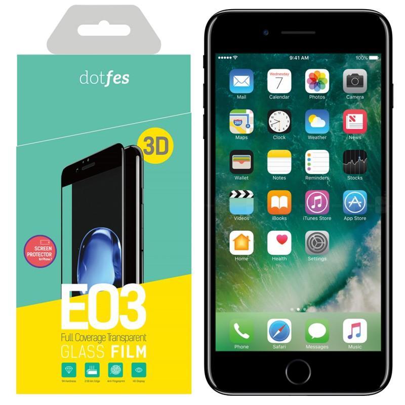 Фото - Стекло защитное 3D Dotfes E03 для iPhone 7/8, black стикеры для стен zooyoo1208 zypa 1208 nn