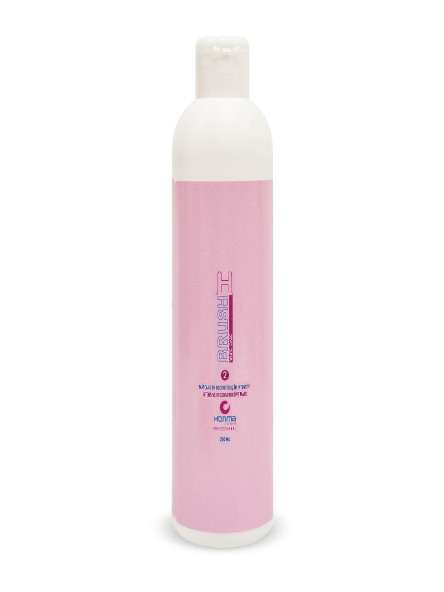 Маска для волос Honma Tokyo H-BRUSH Botox Capilar WHITE CARE, 250 honma tokyo розовый ботокс для волос h brush botox capilar шаг 2 розовый ботокс для волос h brush botox capilar шаг 2 1000 мл