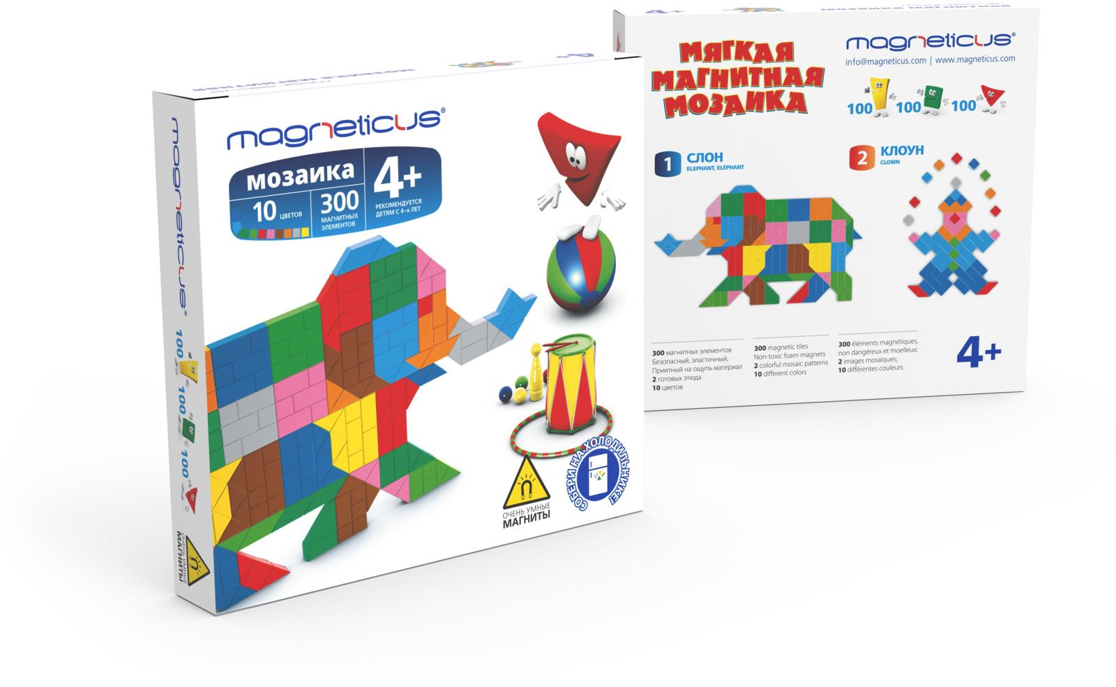 Магнитная мозайка Magneticus Слон, мягкая, 300 элементов