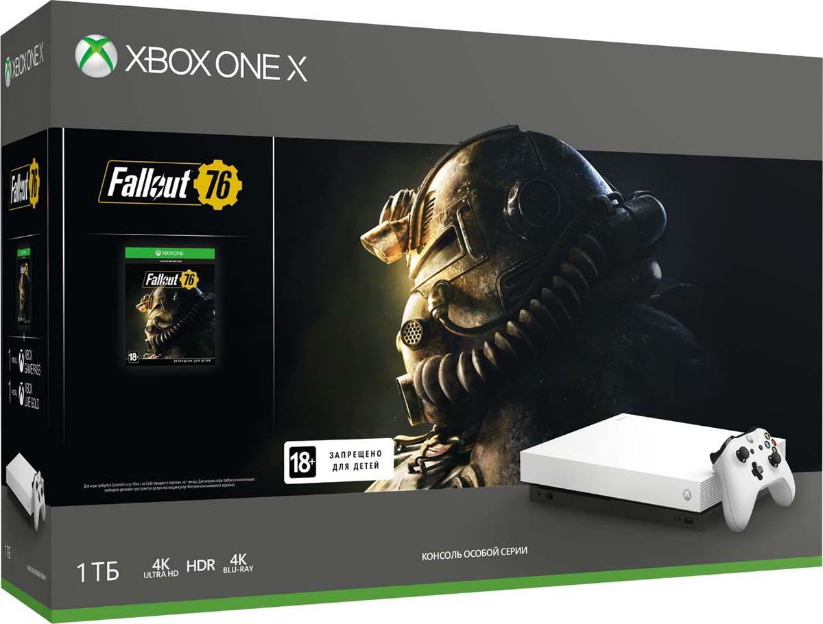 Игровая приставка Xbox One X 1 ТБ, White + Fallout 76