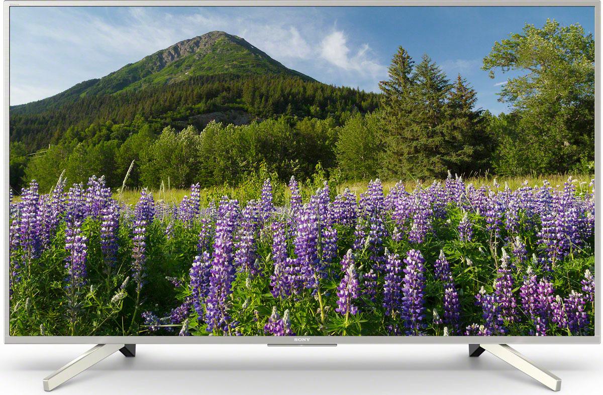 Телевизор Sony KD-49XF7077SR2 49, серебристый жк телевизор sony kd 49xf7077