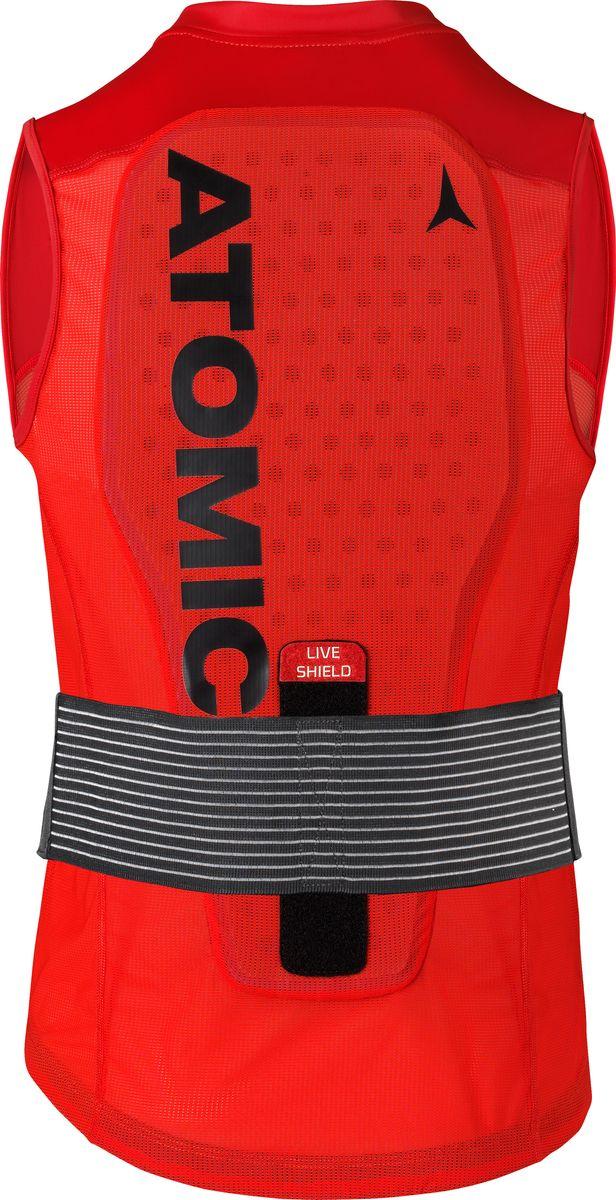 Фото - Защитный жилет Atomic Live Shield Vest M, цвет: красный. Размер M active cut out elastic vest in navy