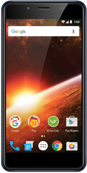 Смартфон Vertex Vertex Impress Eclipse 8 GB, синий смартфон vertex impress eclipse lte gold