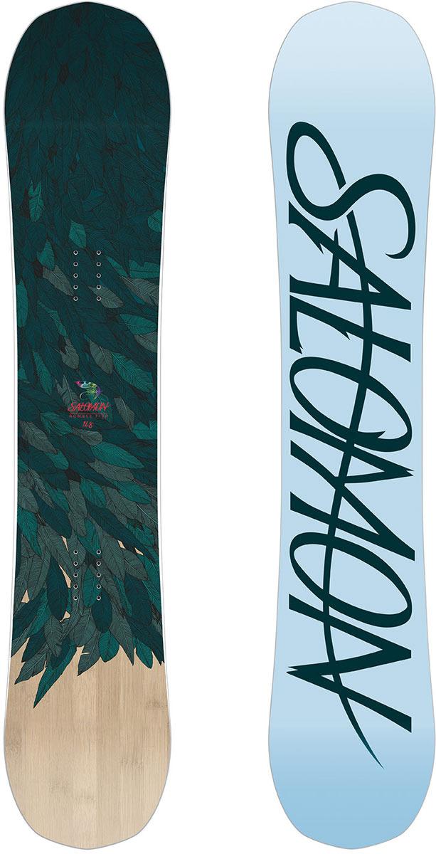 Сноуборд Salomon Rumble Fish, цвет: зеленый, рост 140 см