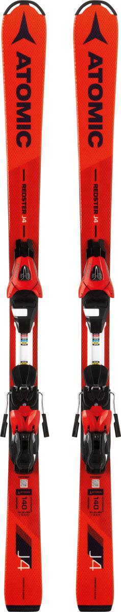 Фото - Лыжи горные Atomic Redster J4 + L 7 ET, с креплением, цвет: красный, рост 160 см горные лыжи atomic atomic vantage wmn x 77 cti lith 10 17 18