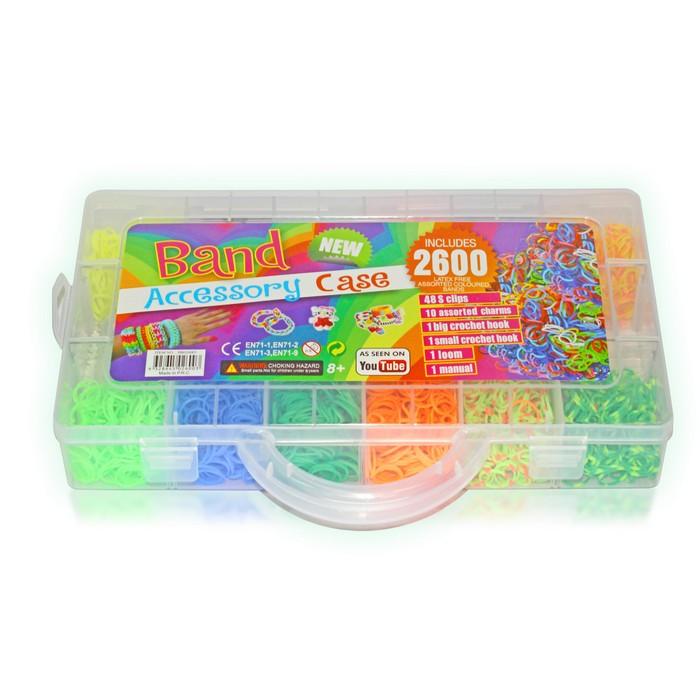 Набор для плетения Loom Bands Band 2600, 209014 набор резинок solid bands