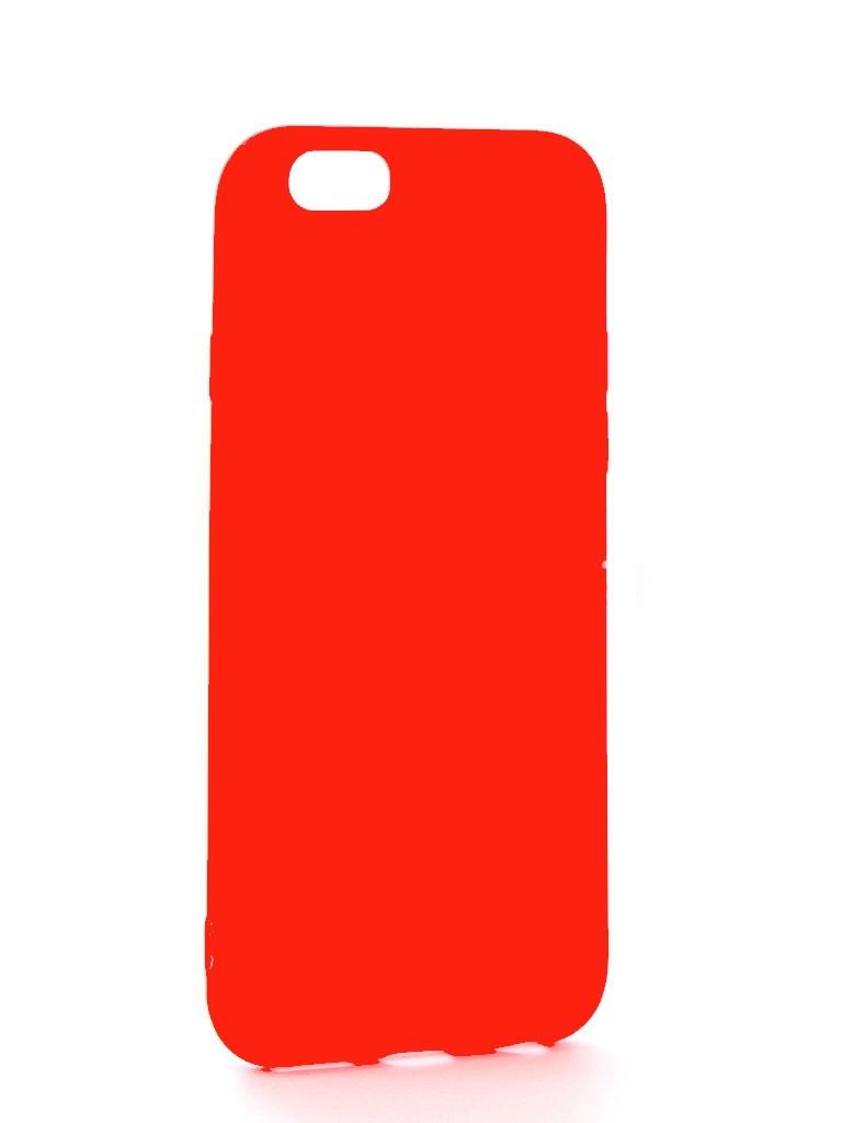 Чехол Eva для Apple IPhone 6/6s, силиконовый, цвет: красный