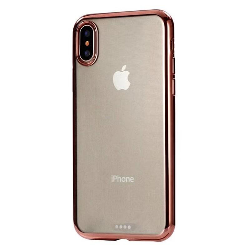 Чехол силиконовый EVA для Apple iPhone X - Прозрачный/Розовый аксессуар чехол для apple iphone x eva silicone black ip8a001b x
