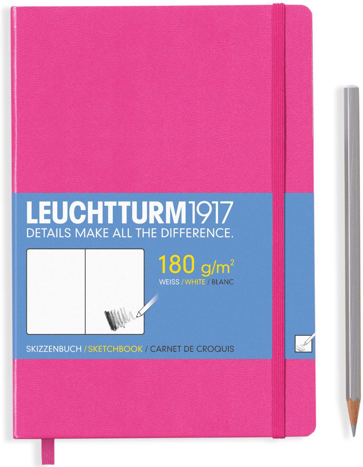 Записная книжка Leuchtturm, цвет: розовый, A5, 48 листов