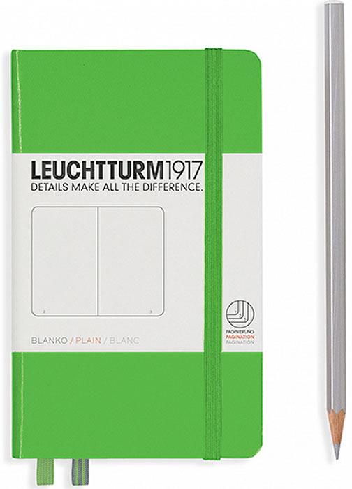 Записная книжка Leuchtturm, цвет: светло-зеленый, 92 листов