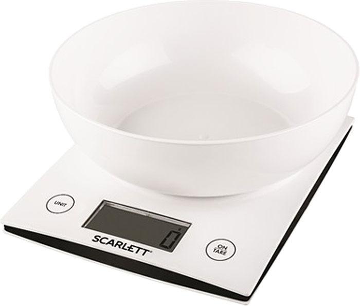 Кухонные весы Scarlett SC-KS57B10, цвет: белый весы кухонные scarlett sc ks57b10 белый