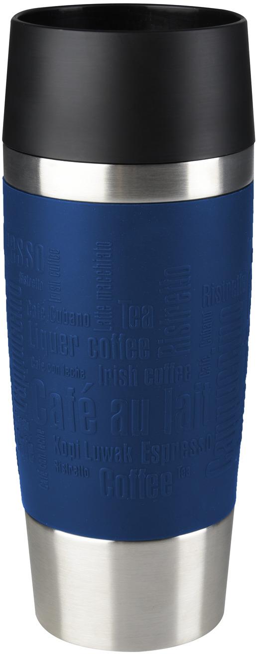 Термокружка Emsa Travel Mug, цвет: синий, 360 мл термокружка emsa travel mug 360 мл сталь пластик красный