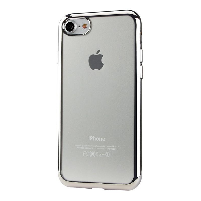 Чехол силиконовый EVA для Apple iPhone 7/8 - Прозрачный/Серебристый аксессуар чехол eva silicone для apple watch 38mm transparent avc005t