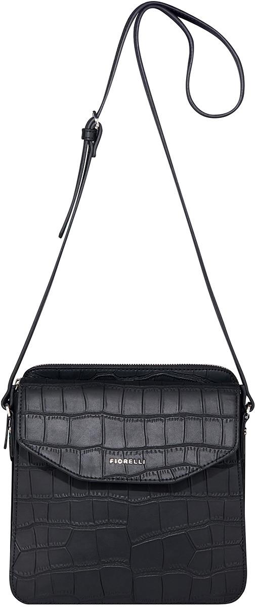 Сумка женская Fiorelli, цвет: черный. 0345 FWH Croc Mix рюкзак женский fiorelli цвет светло бежевый 0133 fwh nude mix