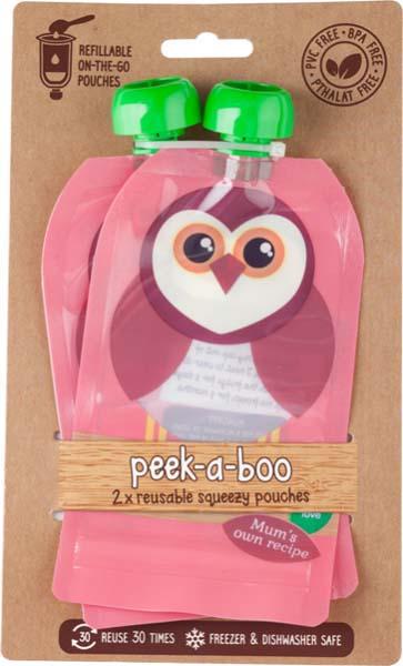 Контейнеры для хранения детского питания и кормления Peek-a-boo New, многоразовые, цвет: розовый, 150 мл, 2 шт цена и фото