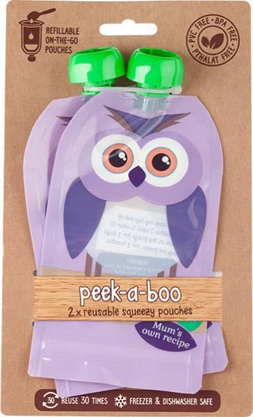 Контейнеры для хранения детского питания и кормления Peek-a-boo New, многоразовые, цвет: фиолетовый, 150 мл, 2 шт цена и фото