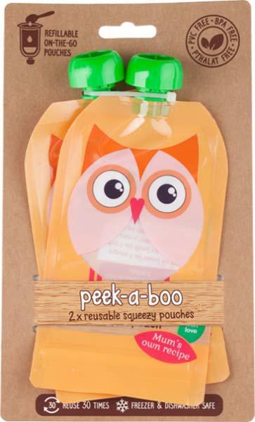 Контейнеры для хранения детского питания и кормления Peek-a-boo New, многоразовые, цвет: оранжевый, 150 мл, 2 шт цена и фото