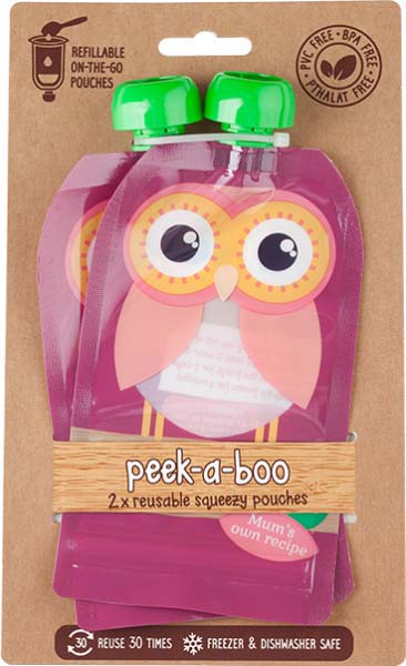 Контейнеры для хранения детского питания и кормления Peek-a-boo New, многоразовые, цвет: бордовый, 150 мл, 2 шт цена и фото