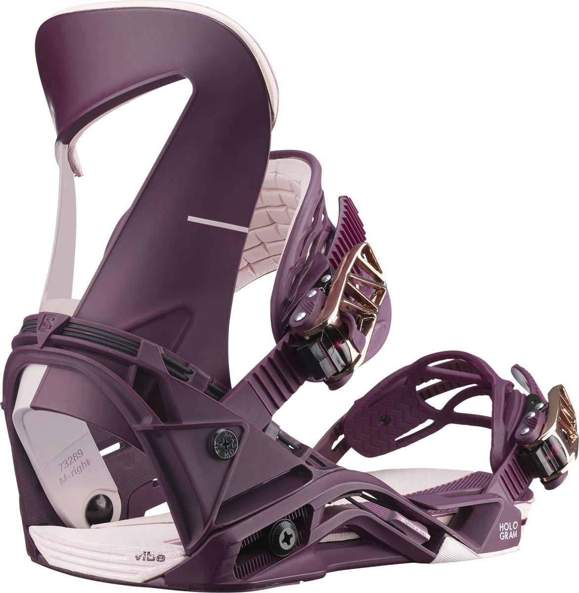 Крепления для сноуборда Salomon Hologram W, цвет: фиолетовый. Размер M (39,5-44)