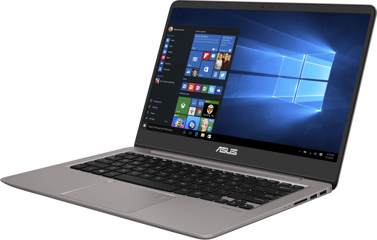 14 Ноутбук ASUS ZenBook UX410UA 90NB0DL3-M12850, серый ноутбук asus zenbook ux410ua gv503t 90nb0dl3 m10950