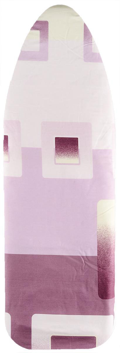 """Чехол для гладильной доски Eurogold """"Ultra"""", цвет: розовый, сиреневый, желтый. DC34M5"""