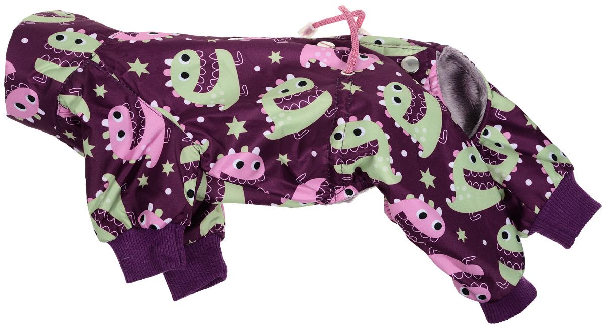 Фото - Комбинезон для собак Yoriki Монстры, унисекс, цвет: бордовый, салатовый. Размер S джемпер для девочки let s go монстры цвет розовый персиковый 6181 размер 122