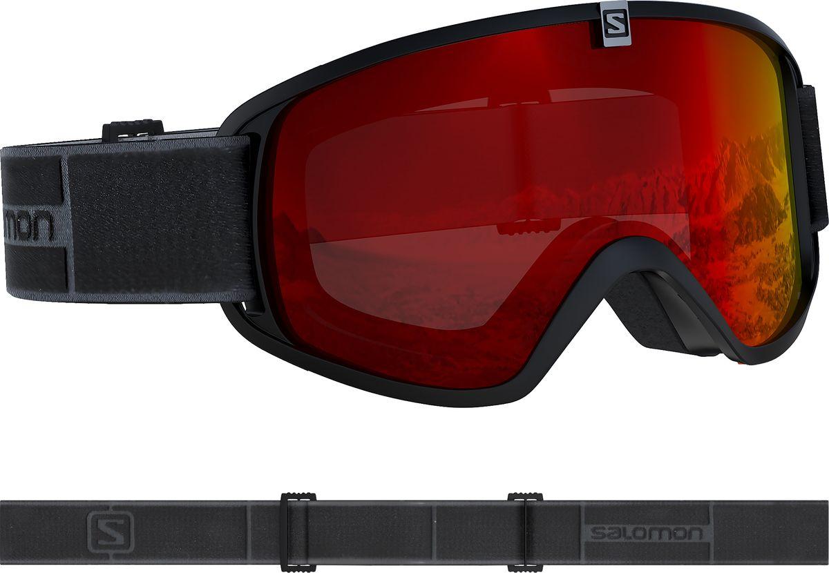 Маска горнолыжная Salomon Trigger, цвет: черный, красный