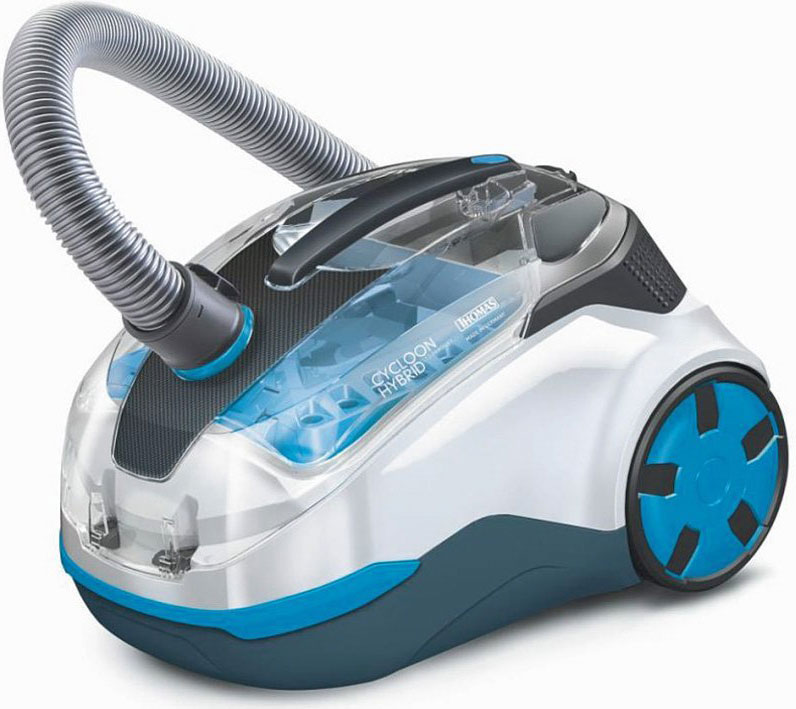 Пылесос Thomas DryBox + AquaBox Parkett, цвет: белый, голубой