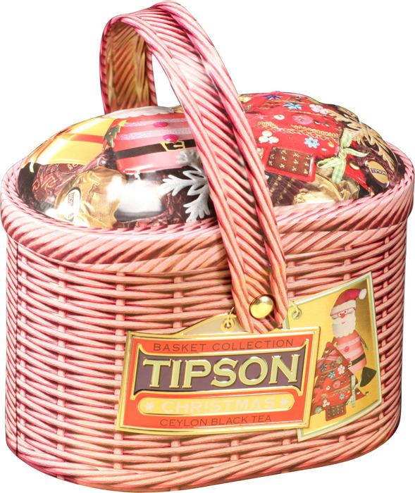 Черный листовой чай Tipson Basket-Christmas, 80 г цена 2017