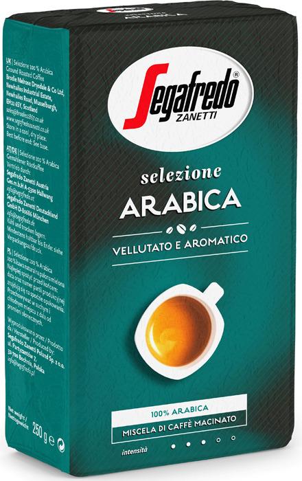 Кофе молотый Segafredo Selezione Arabica, 250 г кофейный набор кофе segafredo с кофейной парой чашек
