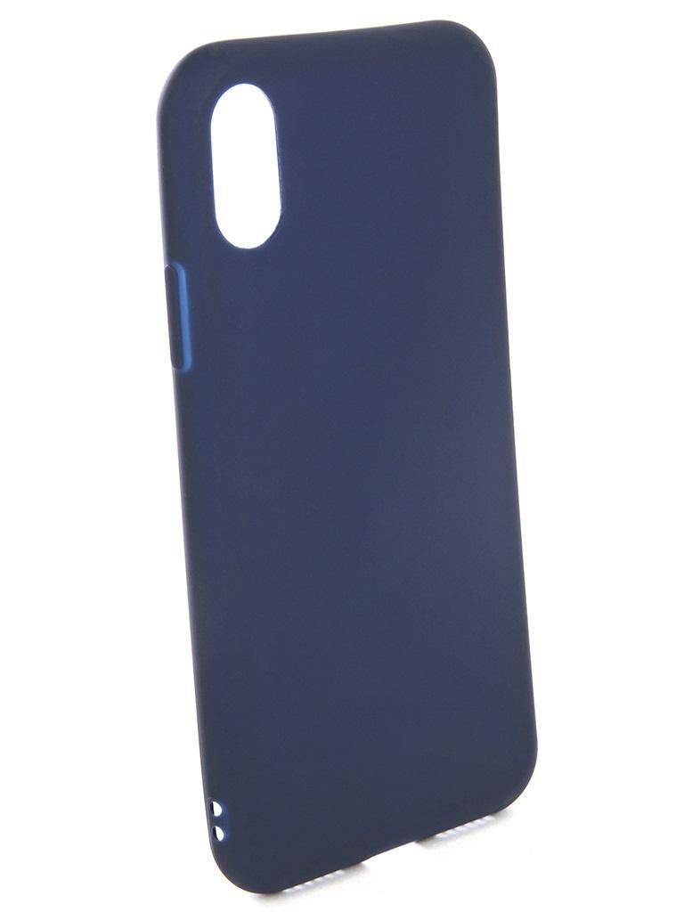 Чехол силиконовый EVA для Apple IPhone X - Синий аксессуар чехол для apple iphone x eva silicone black ip8a001b x
