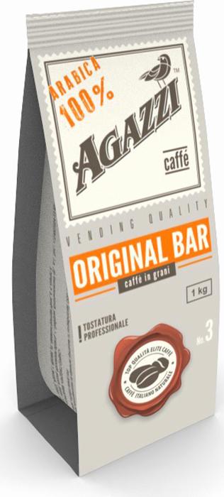 Кофе в зернах Agazzi Original Bar, 1 кг кофе в зернах agazzi gusto aroma 200 г