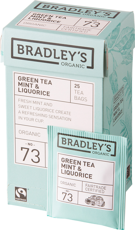 Чай зеленый в пакетиках Bradley's Organic FT Мята и лакрица, 25 шт