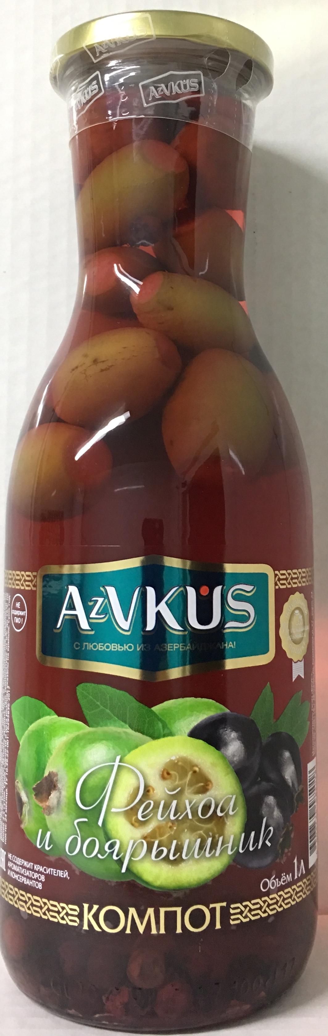 AZVKUS из фейхоа и боярышника 1л azvkus из фейхоа 1л