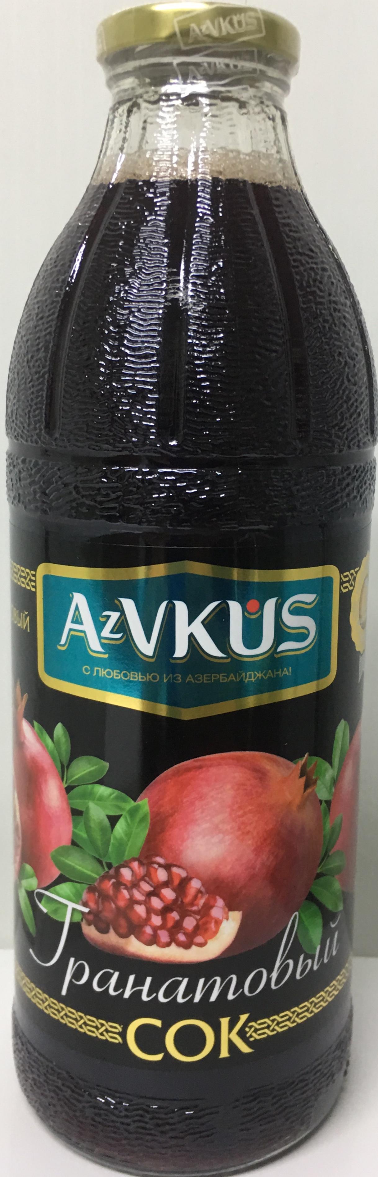 AZVKUS гранатовый сок Premium 1л azvkus из фейхоа 1л