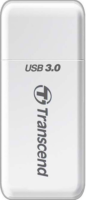 Картридер Transcend RDF5, USB 3.0, для карт памяти SD/microSD с поддержкой UHS-I, цвет: белый цена и фото