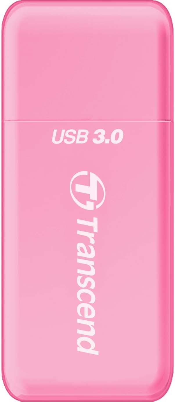 Картридер Transcend RDF5, USB 3.0, для карт памяти SD/microSD с поддержкой UHS-I, цвет: розовый цена и фото