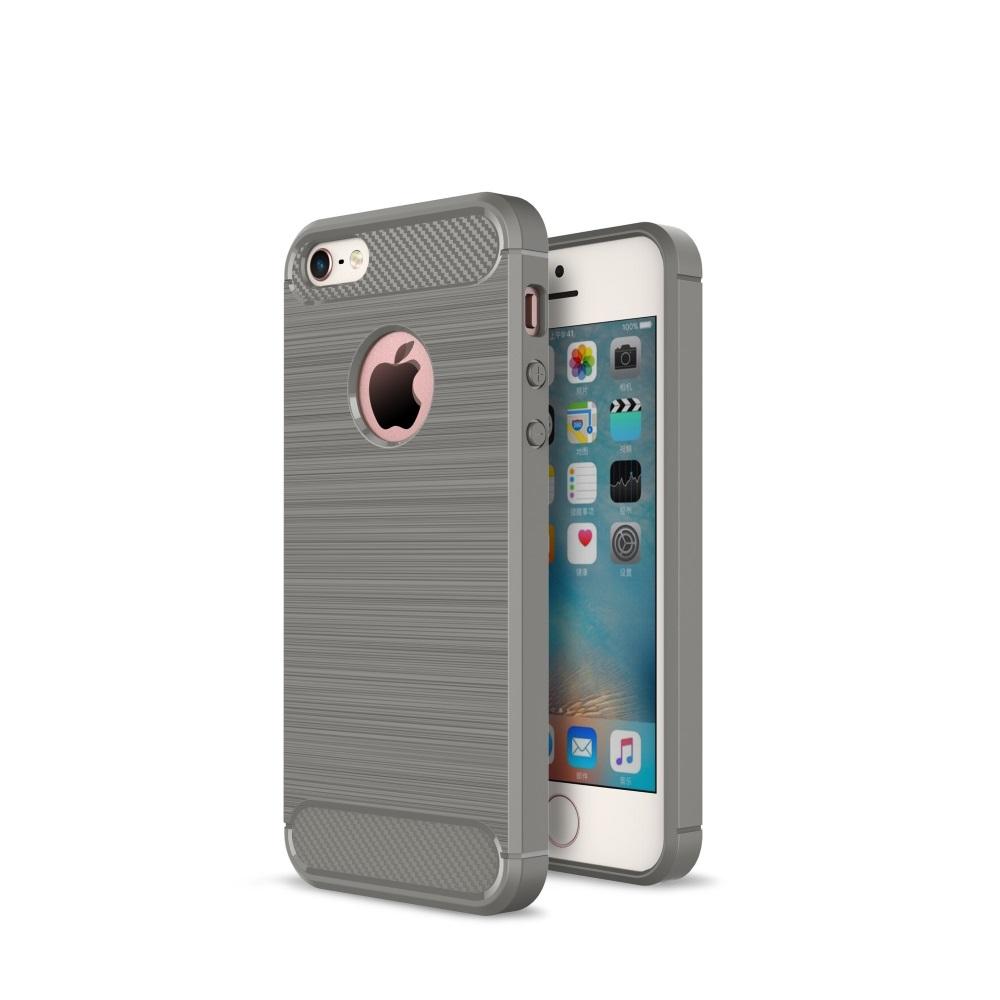 Чехол силиконовый EVA для Apple IPhone 5/5s/5c - Серый/Карбон