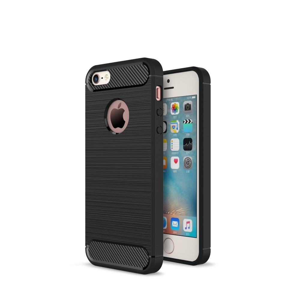 Чехол силиконовый EVA для Apple IPhone 5/5s/5c.Цве -Черный/Карбон