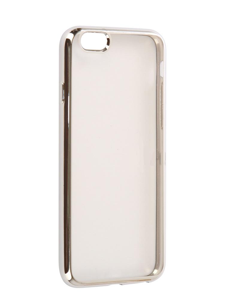 Чехол силиконовый EVA для Apple IPhone 6/6s - Прозрачный/Серебристый аксессуар чехол eva silicone для apple watch 38mm transparent avc005t