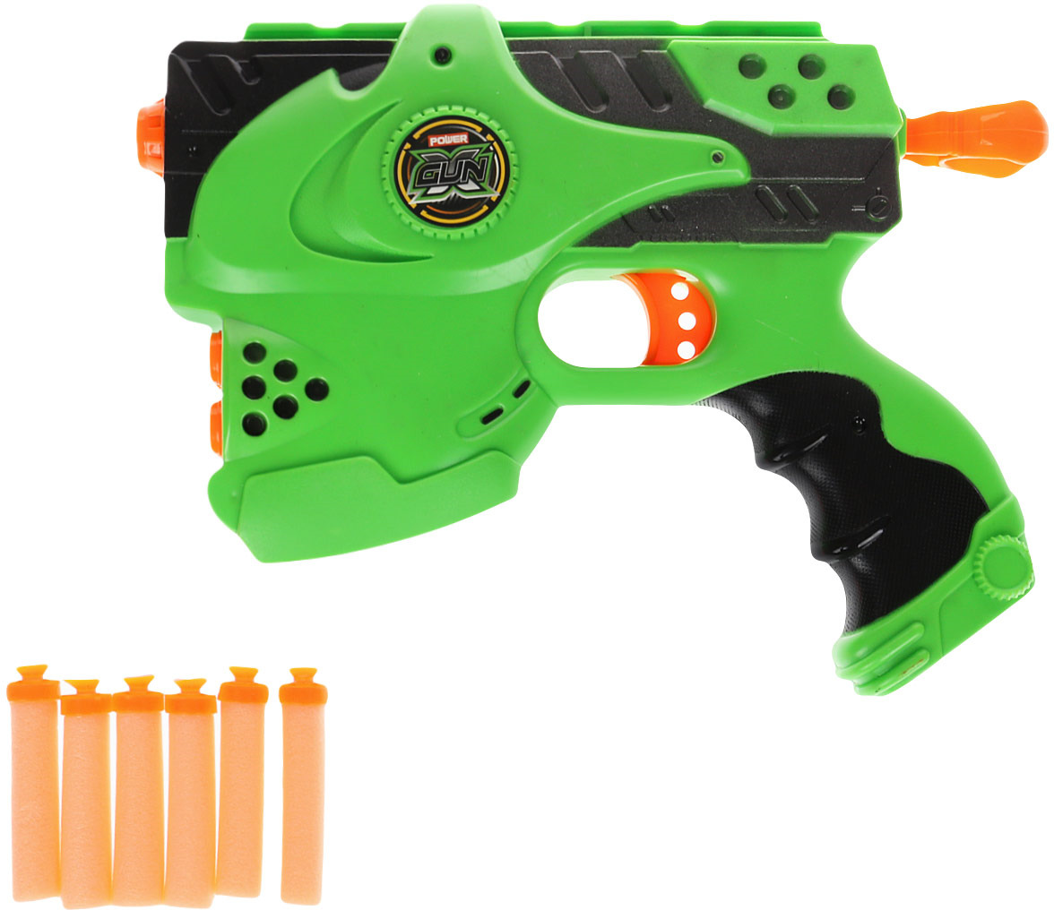 Игрушечное оружие Veld Co Пистолет с мягкими пулями, цвет: зеленый. 67872 игрушечное оружие пистолет воздушная атака 2894991