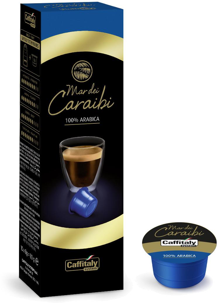 Кофе в капсулах Caffitaly System Mar Dei Caraibi, 10 шт кофе caffitaly кофе в капсулах mesico