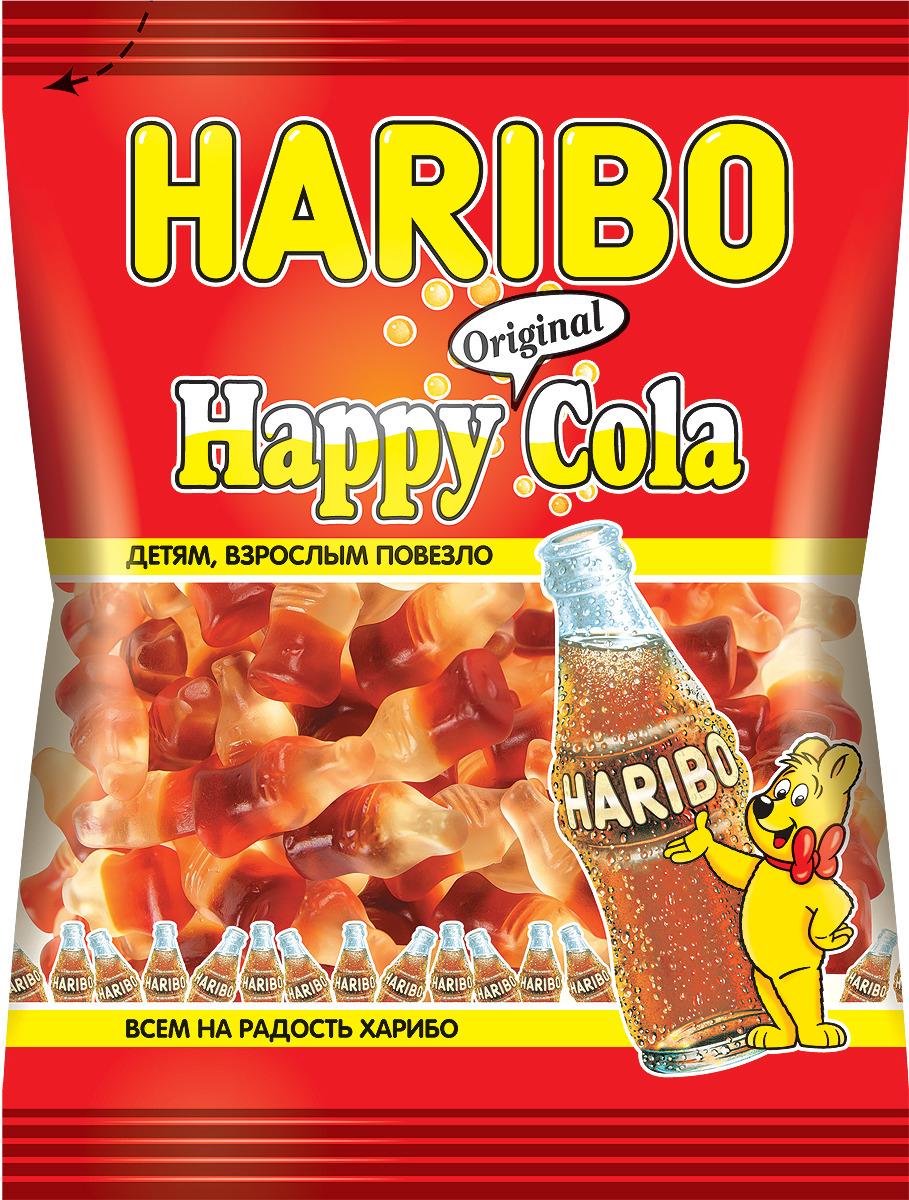 Haribo Happy Cola жевательный мармелад, 140 г жевательный мармелад haribo червячки 70г